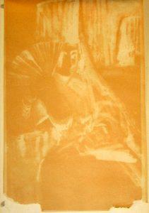 Abb. 2 Unterlagekarton des nebenstehenden Aquarells