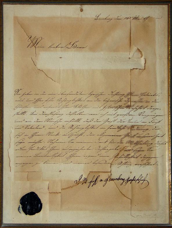 Abb. 3 Brief, Bamberg, 1833, Tinte auf holzfreiem Papier