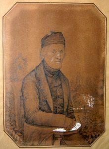 Abb. 5 Herrenporträt, Bleistift mit Bleiweißhöhung auf Papier, um 1860